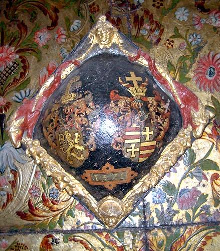 Schild mit dem jeverschen und Oldenburger Wappen